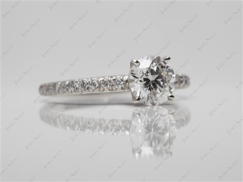 Platinum  Pave Ring Set