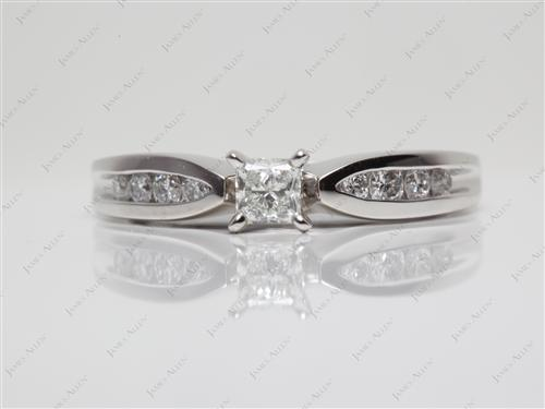Platinum 0.30 Princess cut Channel Diamond Ring
