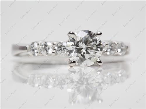Platinum 1.04 Round cut Engagement Rings