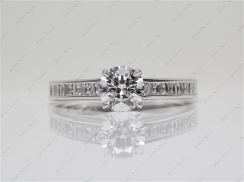 White Gold 0.64 Round cut Channel Setting Ring