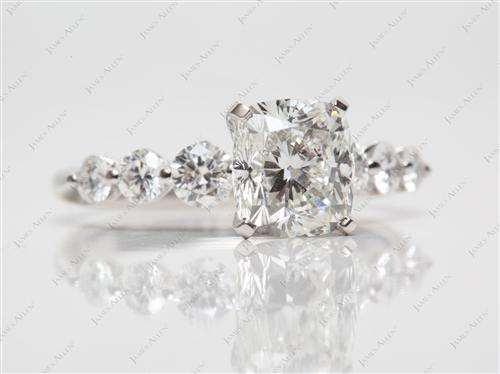 Platinum 2.02 Cushion cut Engagement Rings