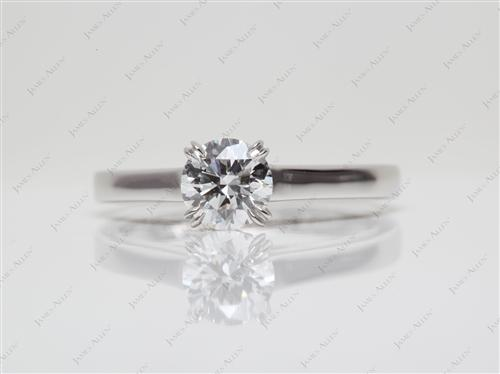 Platinum 0.61 Round cut Diamond Solitaire Rings