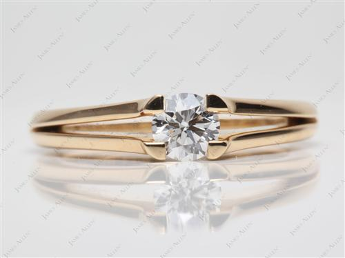 Gold 0.52 Round cut Tension Engagement Rings