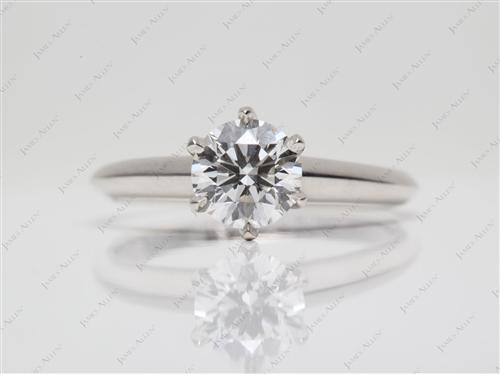 Platinum 0.92 Round cut Solitaire Ring Settings