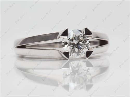 White Gold 0.82 Round cut Tension Setting Engagement Rings