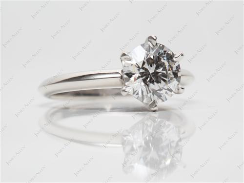 Platinum 1.50 Round cut Diamond Rings