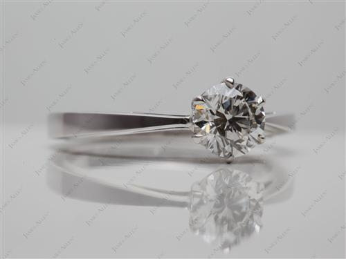 White Gold 0.85 Round cut Solitaire Ring