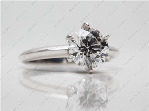 Platinum 1.64 Round cut Solitaire Diamond Rings