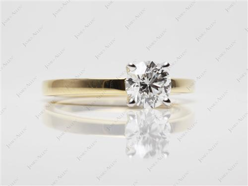 Gold 1.02 Round cut Solitaire Engagement Rings