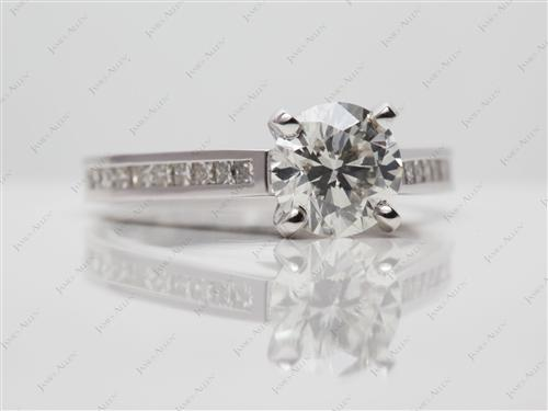 White Gold 1.31 Round cut Channel Set Diamond Band