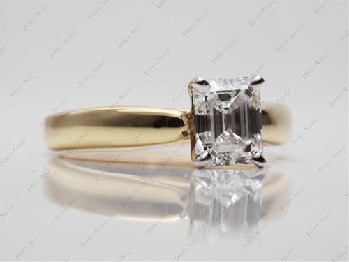Gold 1.23 Emerald cut Solitaire Ring Designs
