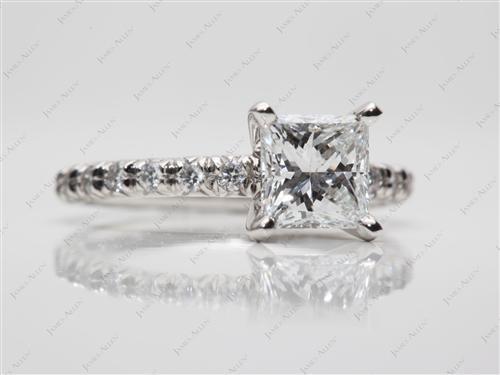 Platinum  Pave Ring Settings