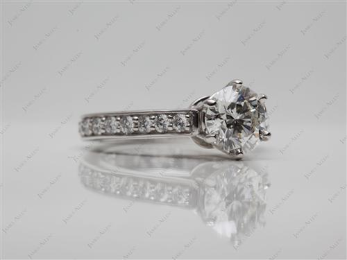 Platinum 1.06 Round cut Engagement Ring