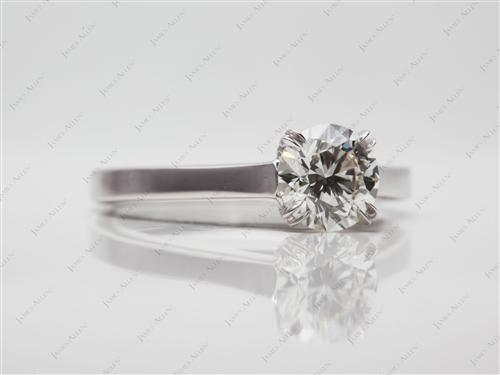 White Gold 0.82 Round cut Solitaire Diamond Rings