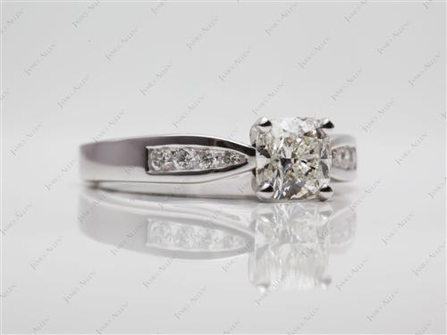 White Gold  Channel Set Rings