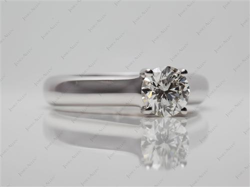 White Gold 0.83 Round cut Engagement Rings