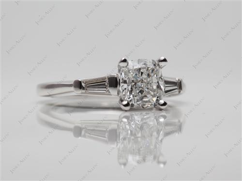 White Gold 1.20 Cushion cut Diamond Rings