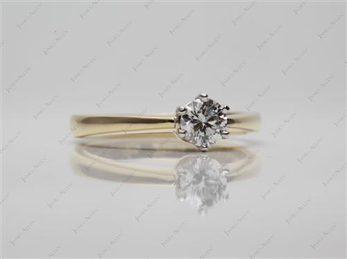 Gold 0.44 Round cut Solitaire Ring Designs