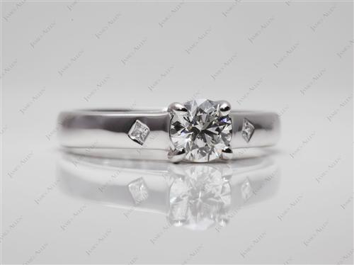 White Gold 0.60 Round cut Solitaire Ring Designs
