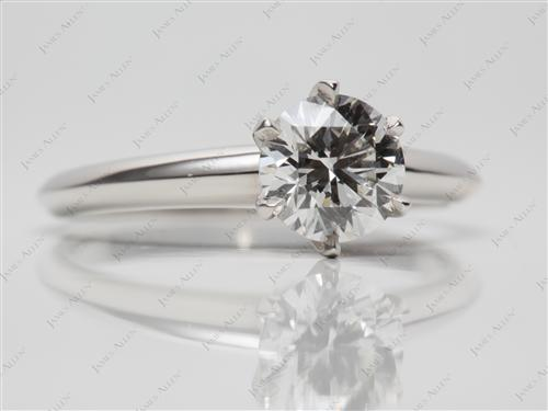 Platinum 1.03 Round cut Solitaire Engagement Rings