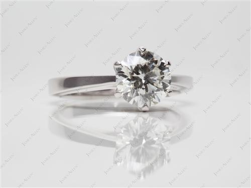 White Gold 1.21 Round cut Diamond Rings