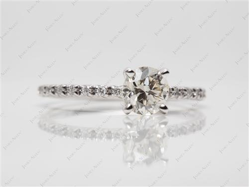 White Gold 0.80 Round cut Diamond Wedding Sets