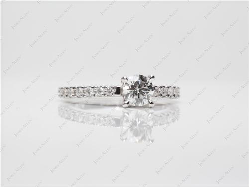 White Gold  Pave Setting Rings