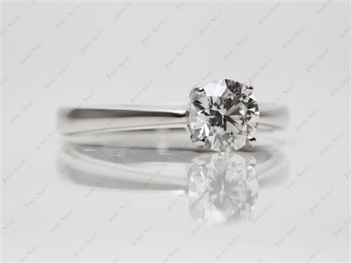 Platinum 0.90 Round cut Solitaire Ring Designs