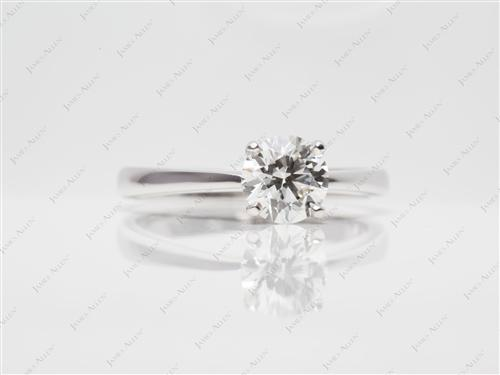 White Gold 1.15 Round cut Diamond Solitaire Rings