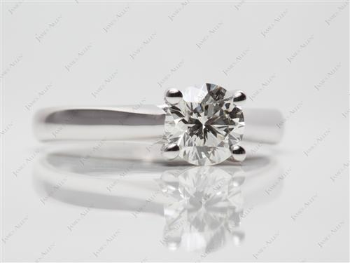White Gold 1.04 Round cut Diamond Solitaire Engagement Ring