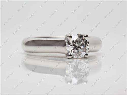 Platinum 0.60 Round cut Diamond Engagement Solitaire Rings
