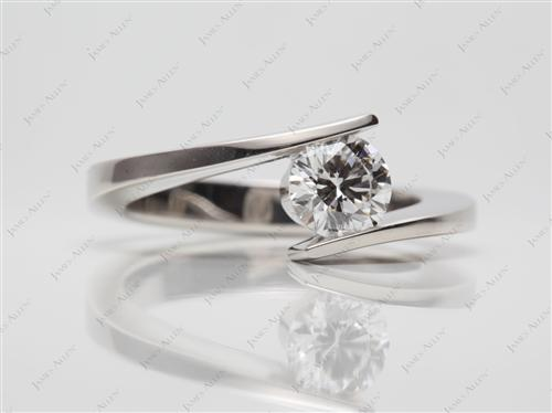 Platinum 0.70 Round cut Solitaire Ring Settings