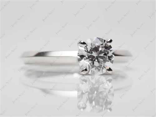 Platinum 0.72 Round cut Solitaire
