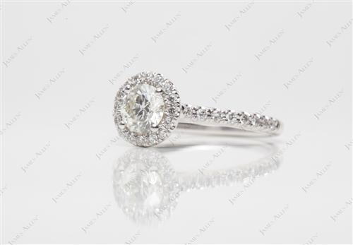 White Gold 0.50 Round cut Diamond Rings