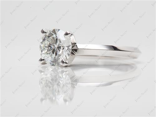 Platinum 1.04 Round cut Solitaire Ring Settings
