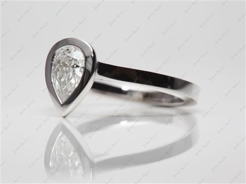 White Gold 0.86 Pear shaped Solitaire Ring Designs