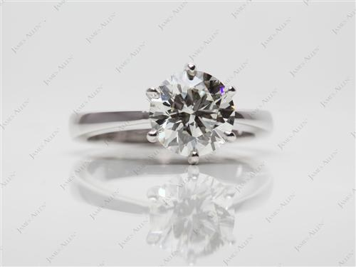 White Gold 1.30 Round cut Solitaire Ring Designs