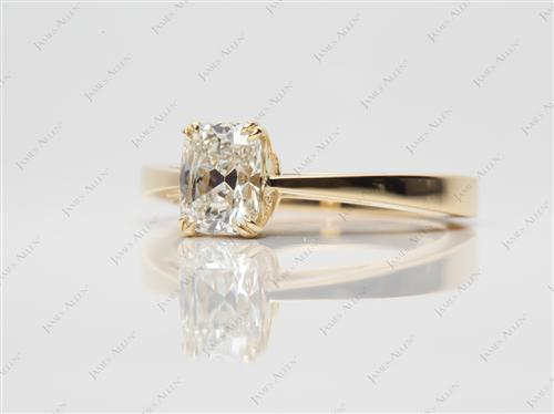 Gold 1.03 Cushion cut Solitaire Ring Designs