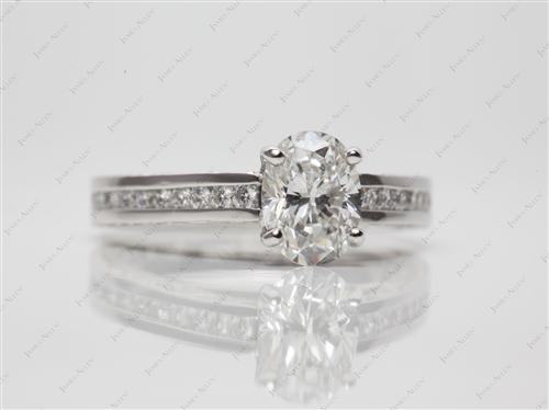 Platinum 1.04 Oval cut Channel Set Diamond Band