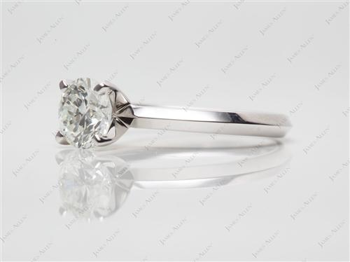 Platinum  Solitaire Ring Setting