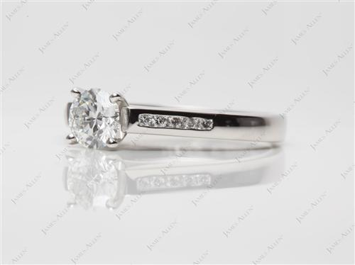 Platinum 0.55 Round cut Channel Set Diamond Band