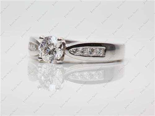 Platinum 0.52 Round cut Channel Cut Ring