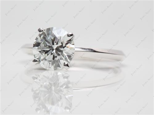 Platinum 1.77 Round cut Diamond Engagement Solitaire Rings