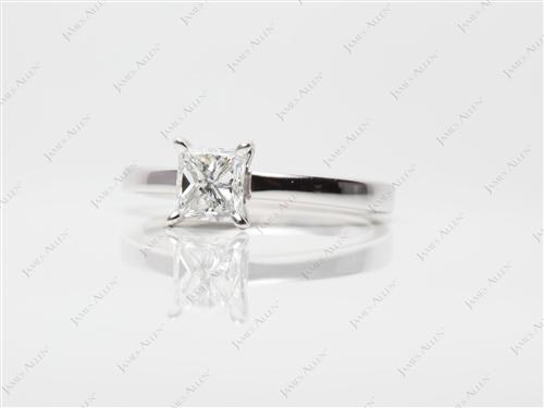 White Gold 1.01 Princess cut Solitaire
