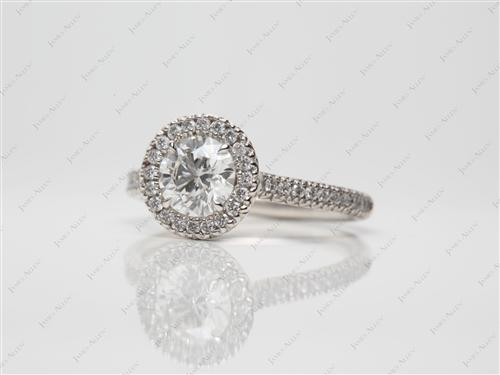 Platinum 0.81 Round cut Pave Rings