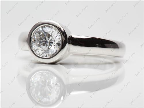 Platinum  Tension Ring Setting