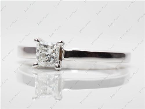 White Gold 0.53 Princess cut Diamond Rings
