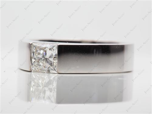 White Gold  Tension Set Engagement Ring