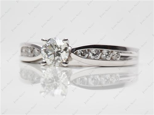 White Gold 0.51 Round cut Channel Set Diamonds