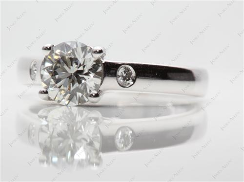 White Gold 1.16 Round cut Solitaire Diamond Ring